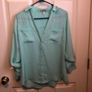 Light blue Express portfolio shirt